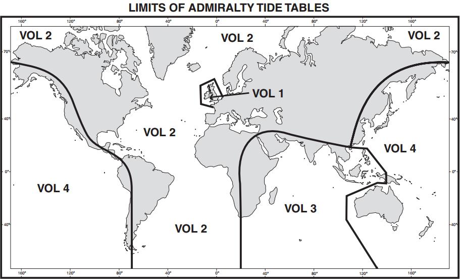 Np202 Admiralty Tide Tables Att Volume 2 North Atlantic Ocean And